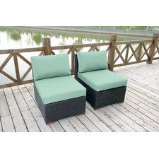 Pasadina Deep Seating Chair with Cushions (Set of 2)