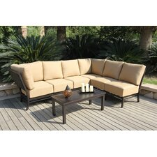 Monterey Conversation Sectional 7 Piece Deep Seating Group with Cushions