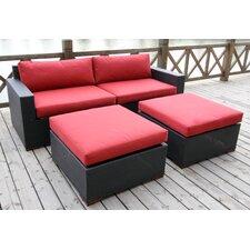 Pasadina 4 Piece Deep Seating Group with Cushion