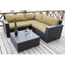 Pasadina 4 Piece Lounge Seating Group with Cushion
