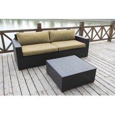 Pasadina Deep Seating 2 Piece Seating Group with Cushion