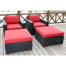 Pasadina 4 Piece Deep Chair Seating Group with Cushion