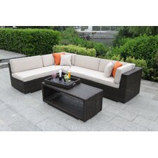 Andaz 4 Piece Deep Seating Group with Cushion