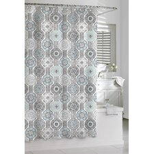 Cotton Urban Tiles Shower Curtain