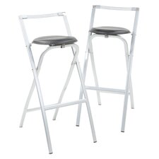 "35.8"" Bar Stool with Cushion (Set of 2)"
