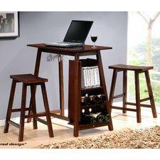 3 Piece Minibar Dining Table Set