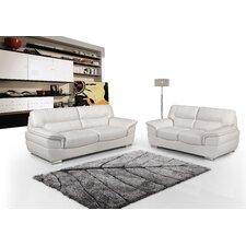 Calbeau Leather Sofa and Loveseat Set
