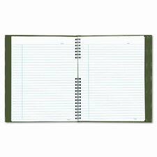 Exec Wirebound Notebook, College/Margin Rule, 9-1/4x7-1/4, 150 Sheets