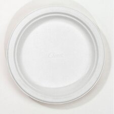 """6.75"""" Round Classic Paper Plates in White"""