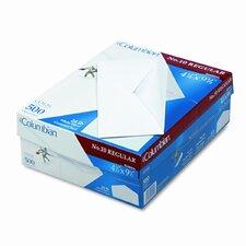 Gummed Flap Business Envelope, V-Flap, #10, White, 500/box