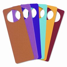 WonderFoam Door Knob Hangers, 6 Asst Colors (Set of 2)