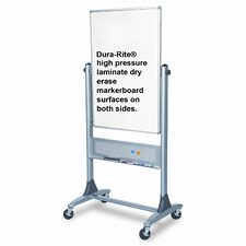 Best-Rite® Reversible Free Standing Whiteboard, 3' x 3'