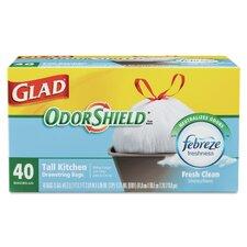 OdorShield Tall-Kitchen Drawstring Bag - 40 Bags per Box / 6 Boxes