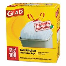 Tall-Kitchen Drawstring Bag - 100 Bags per Box / 4 Boxes