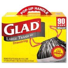 Drawstring Outdoor Trash Bags in Black