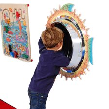 "28"" H x 28"" W Blowfish Wall Panel Mirror"