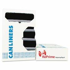 Reprime Can Liners, Prime Resin, Black, 100/Carton, 33 x 44, 1.3 mils