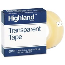 "Transparent Tape, 3/4"" X 1296"", 1"" Core (Set of 4)"