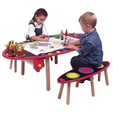 My Room Kid's 3 Piece Table and Bench Set