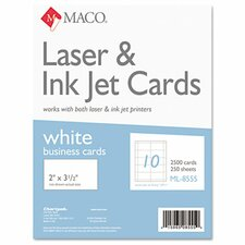 Microperforated Business Cards, 2500/Box