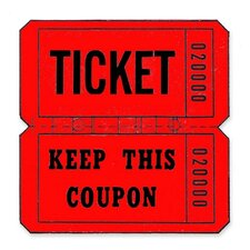 Ticket Roll Double Coupon Marking Tag