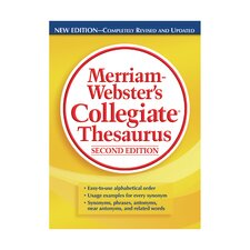 Merriam Websters Collegiate Thesaurus Book