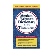 Merriam Websters Dictionary and Thesaurus Book