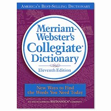 Collegiate Dictionary, 11th Edition, Hardcover, 1664 pages