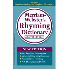 Merriam Webster Rhyming Dictionary Book