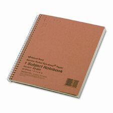 Subject Wirebound Notebook, 80 Sheets/Pad (Set of 3)