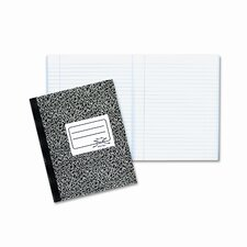 Composition Book, Wide/Margin Rule, 7-7/8 x 10, White, 80 Sheets/Pad (Set of 2)