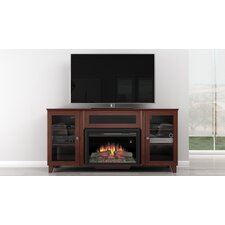 Shaker Style TV Stand with Electric Fireplace