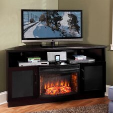 TV Stand with Curved Electric Fireplace