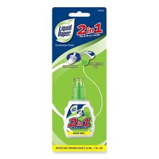 2 in 1 Correction Liquid Paper, 22 ml, White