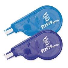 """Mini Correction Tape, 1/5""""x16.4', 2 per Pack, Blue/Purple"""