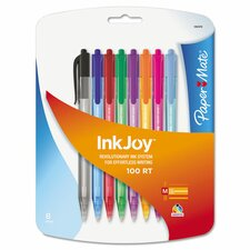 Inkjoy 100 Retractable Ballpoint Pen (8 Pack) (Set of 2)