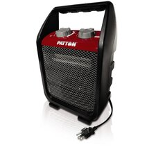 1,500 Watt Portable Electric Utility Heater with Adjustable Thermostat