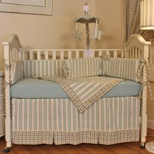 Spa Blue 4 Piece Crib Bedding Set