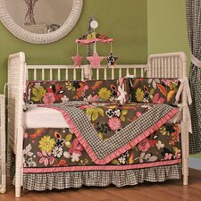 Sleek Slate 4 Piece Crib Bedding Set
