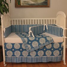 Medallion 4 Piece Crib Bedding Set