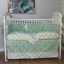 Burst Seagrass 4 Piece Crib Bedding Set