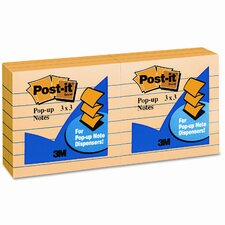 Pop-Up Refill Note Pad, Lined, 6 100-Sheet Pads/Pack