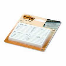 Fax Transmittal Notes,1-1/2 x 4, White, Four 50-Sheet Pads/pack (Set of 2)