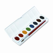 Professional Oval-Eight Watercolor Paint, Eight Assorted Colors per Set