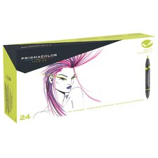 Double Ended Brush Marker (24 Pack)