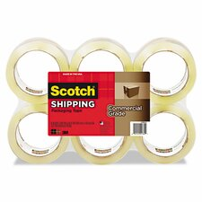 "1.88"" x 54.6 Yards Commercial Grade Packaging Tape (Pack of 6)"
