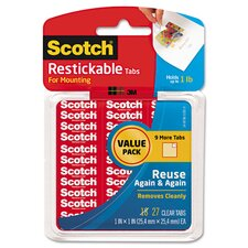 Restickable Mounting Tabs (Pack of 27) (Set of 2)