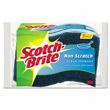 Non-Scratch Multi-Purpose Scrub Sponge (Pack of 3) (Set of 2)