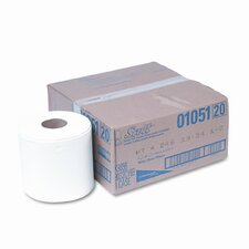 Center-Pull 1-Ply Paper Towel - 500 Sheets per Roll / 4 Rolls