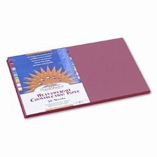 SunWorks Construction Paper, Heavyweight, 12 x 18, Orange, 50 Sheets